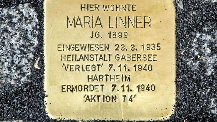 Stumbling stone in memory of Maria Linner, Photo: City of Dachau