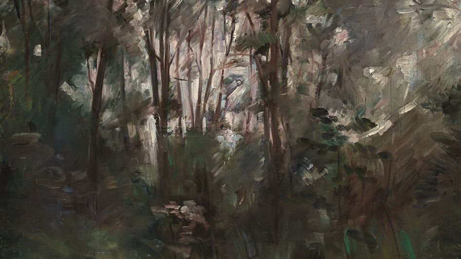 "Painting by Lovis Corinth, ""Woodland near Dachau"""