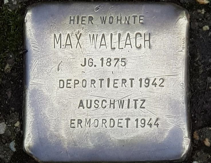 Stumbling blocks in memory of Melitta and Max Wallach, Photo: City of Dachau
